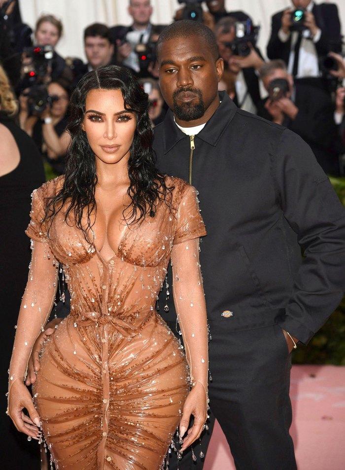 Kim Kardashian en paz mientras se avecina el divorcio de Kanye West Met Gala
