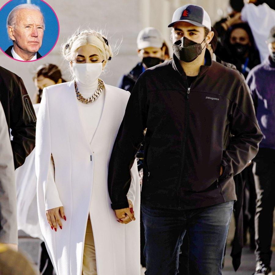 Lady Gaga Boyfriend Michael Polansky Supports Her at Joe Biden Inauguration