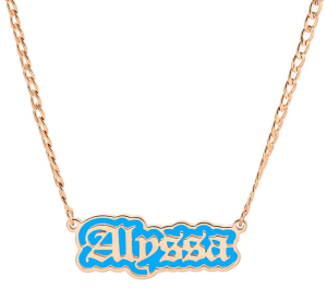 MANZHEN Custom Color Aluminum Plate Outline Any Name Necklace