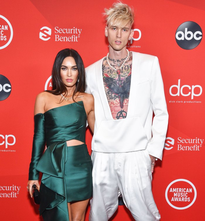 Megan Fox Sparks Engagement Rumors With Massive New Ring at Machine Gun Kelly's SNL Rehearsal