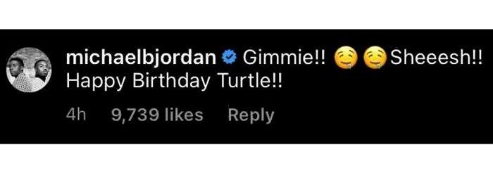 Michael B. Jordan coquetea con Lori Harvey con sugerente comentario de Instagram