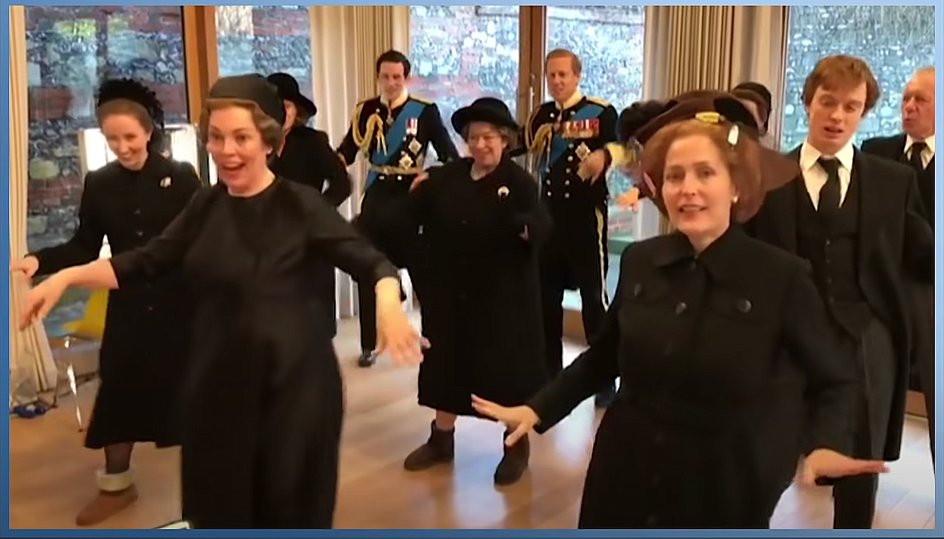 Olivia Colman Leads The Crown Cast in Dancing to Lizzo's Good as Hell in Costume