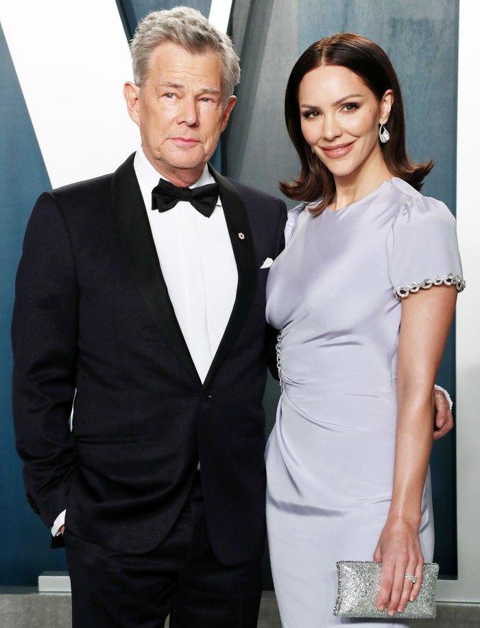 David Foster y Katharine McPhee asisten a la fiesta de los Oscar de Vanity Fair La embarazada Katharine McPhee da el primer vistazo de Bare Baby Bump
