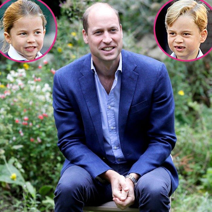 El príncipe William revela si la princesa Charlotte Prince George es más atrevida