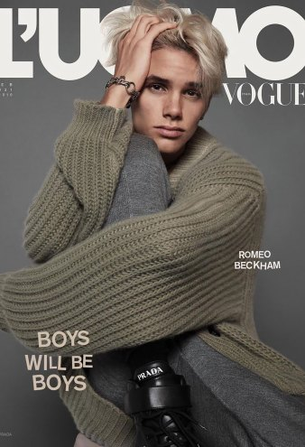Romeo Beckham Channels Both His Parents for His Magazine Cover Debut