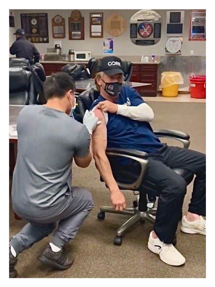 Sean Penn COVID-19 Vaccine Shot