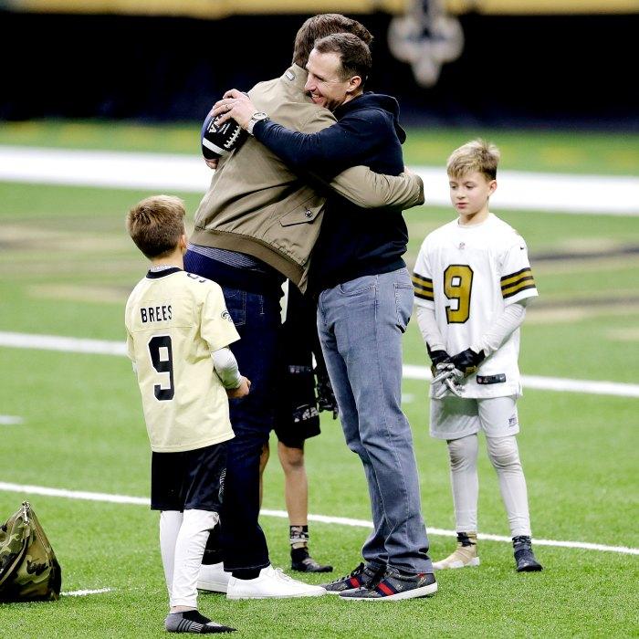Mira el dulce momento de Tom Brady Drew Brees con sus hijos después del juego de playoffs