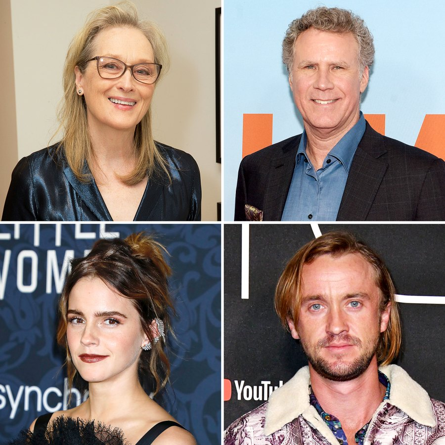 Stars Their Celebrity Crushes Meryl Streep Will Ferrell Emma Watson Tom Felton
