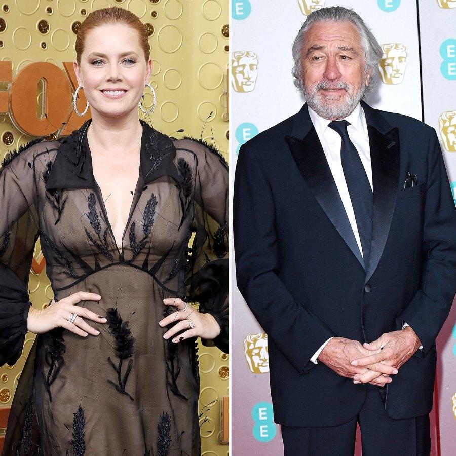 Stars Their Celebrity Crushes Amy Adams Robert DeNiro