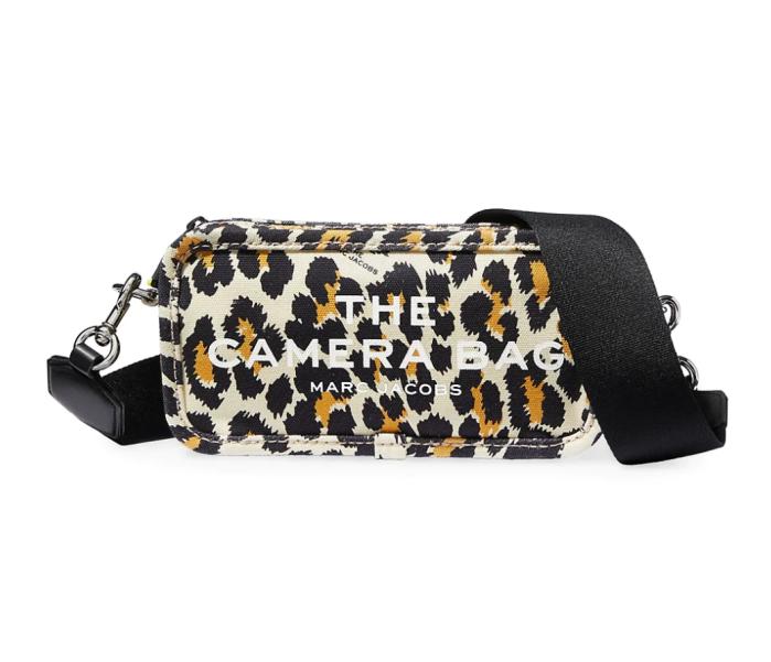 Bolso para cámara de lona con estampado de leopardo The Snapshot de Marc Jacobs