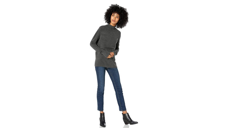 Goodthreads Mid-Gauge Stretch Funnel Neck Sweater