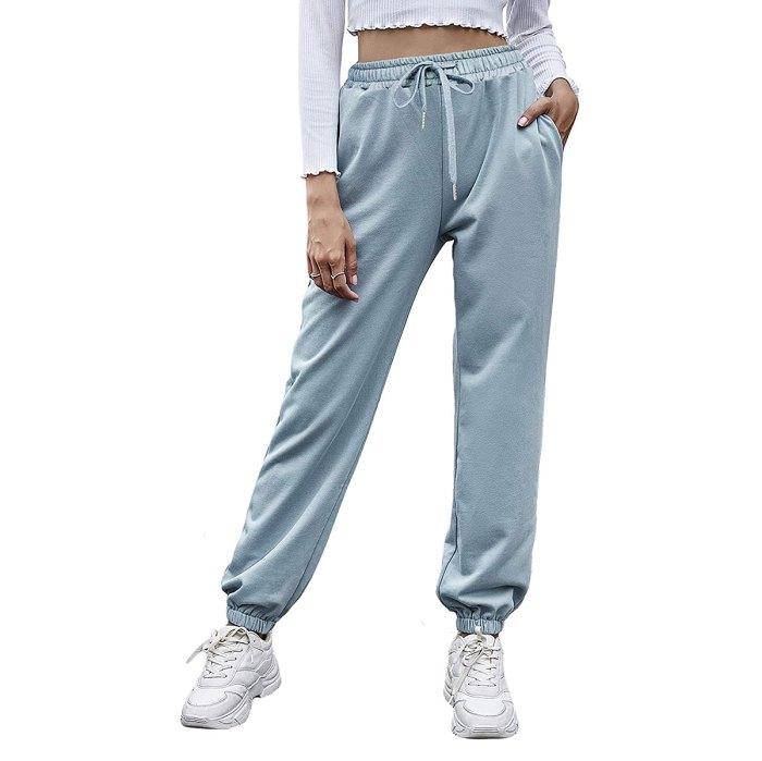 Pantalones deportivos Odosalii de cintura alta con cordón