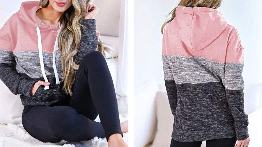 Vivitulip Lightweight Pullover Color-Block Hoodie