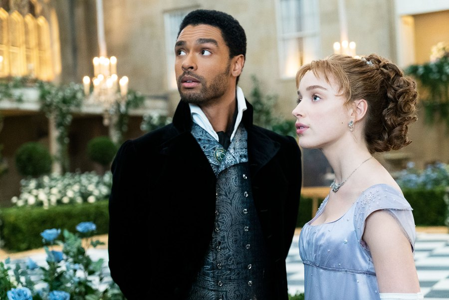Rege-Jean Page as Simon Basset and Phoebe Dynevor as Daphne in Bridgerton Everything Bridgerton Stars Rege-Jean Page and Phoebe Dynevor Have Said About Their Relationship