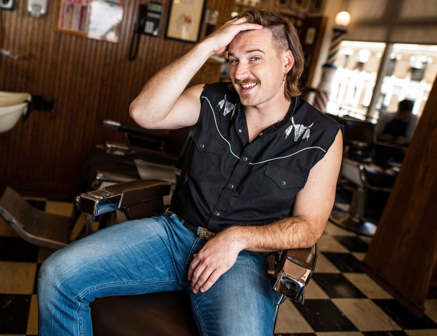 Morgan Wallen poses for a portrait after getting a mullet at Paul Mole Barber Shop Who Is Morgan Wallen 5 Things to Know About the Scandal-Ridden Country Singer