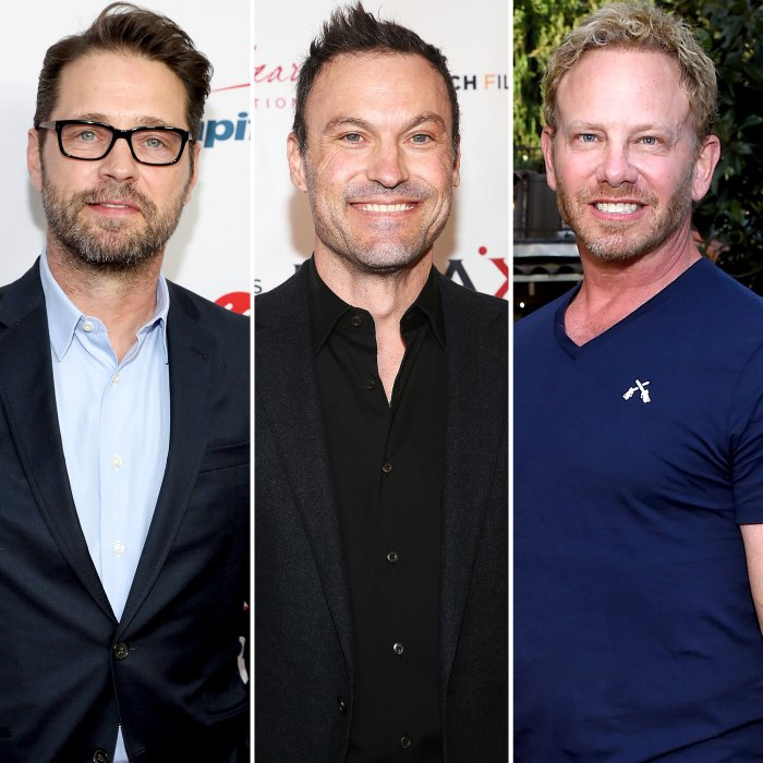 90210's Jason Priestley Brian Austin Green and Ian Ziering Reunite for Lunch Date