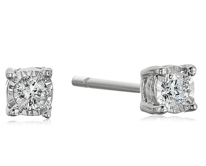 Boucles d'oreilles en diamant Amazon Collection