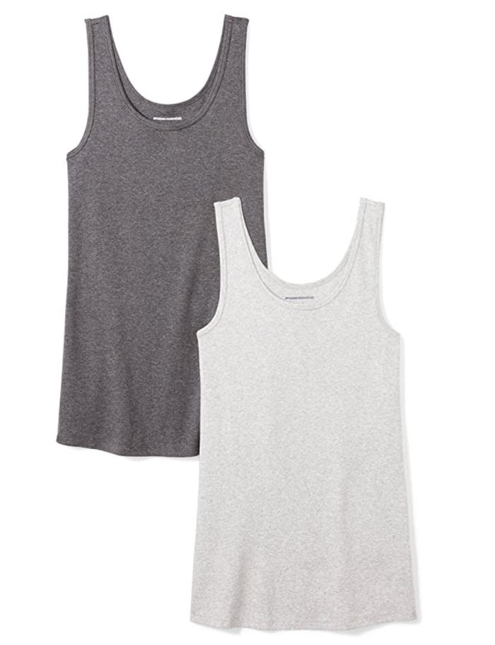 Amazon Essentials Women's 2-Pack Slim-Fit Tank