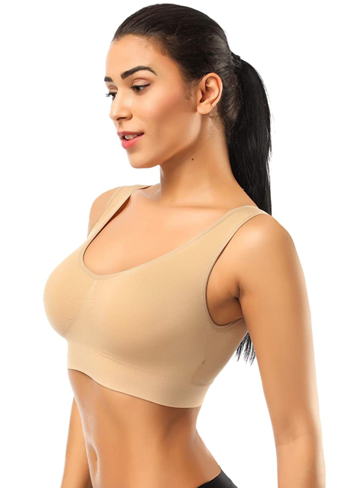 BESTENA Seamless Comfortable Yoga Bra with Removable Pads