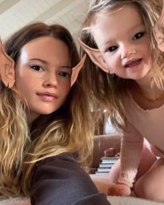 Behati Prinsloo Posts Adorable Rare Pic Daughter Gio