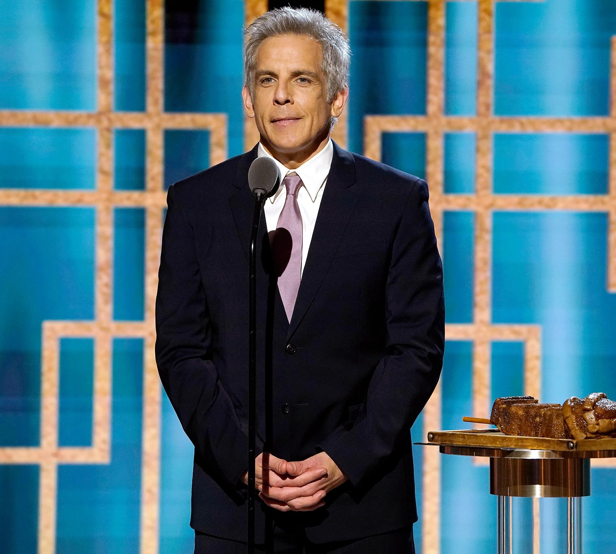 Silver Fox! Ben Stiller Jokes About Dyeing His Hair Gray at Golden Globes
