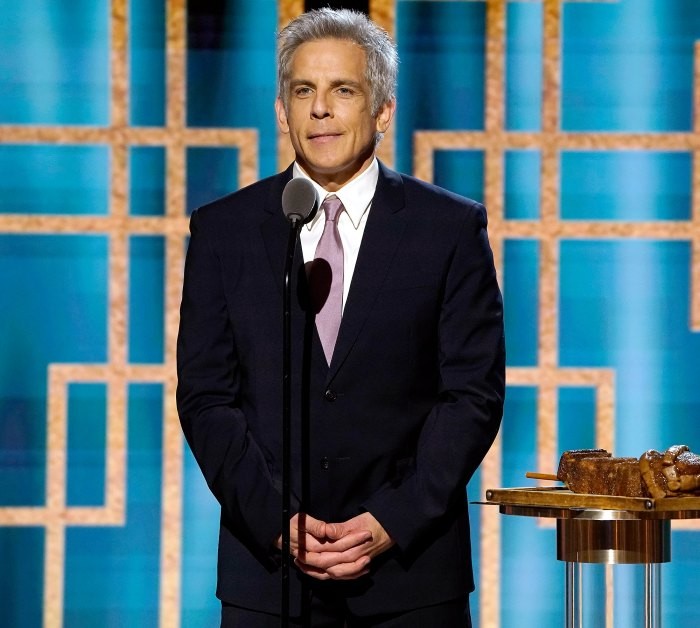 Silver Fox! Ben Stiller Jokes About Dyeing His Hair Gray at Golden Globes