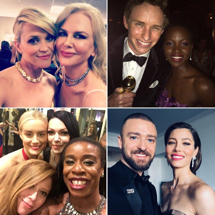 Best Golden Globes selfies