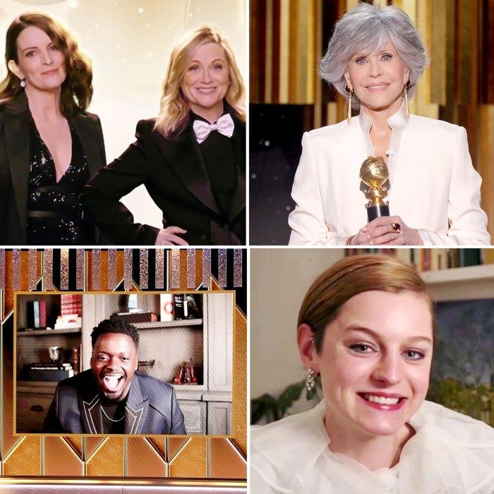 Los momentos más grandes de los Globos de Oro 2021 Tina Fey Amy Poehler Jane Fonda Daniel Kaluyaa Emma Corrin