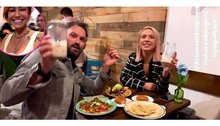Brian Austin Green Brought Sharna Burgess Ex-Girlfriend Tina Louise Restaurant Opening