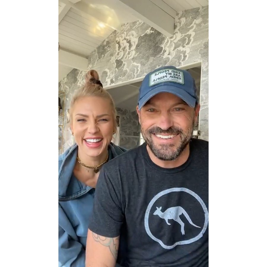 Sharna Burgess and Brian Austin Green Together Valentine's Day Instagram Live