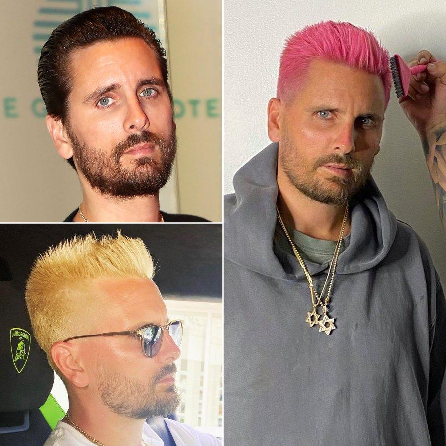 Scott Disick Celebrity Hair Transformations of 2021