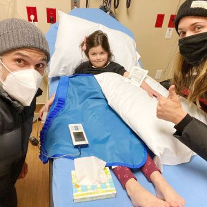 Dave Annable Odette Annable 5-Year-Old Daughter Charlie Breaks Arm