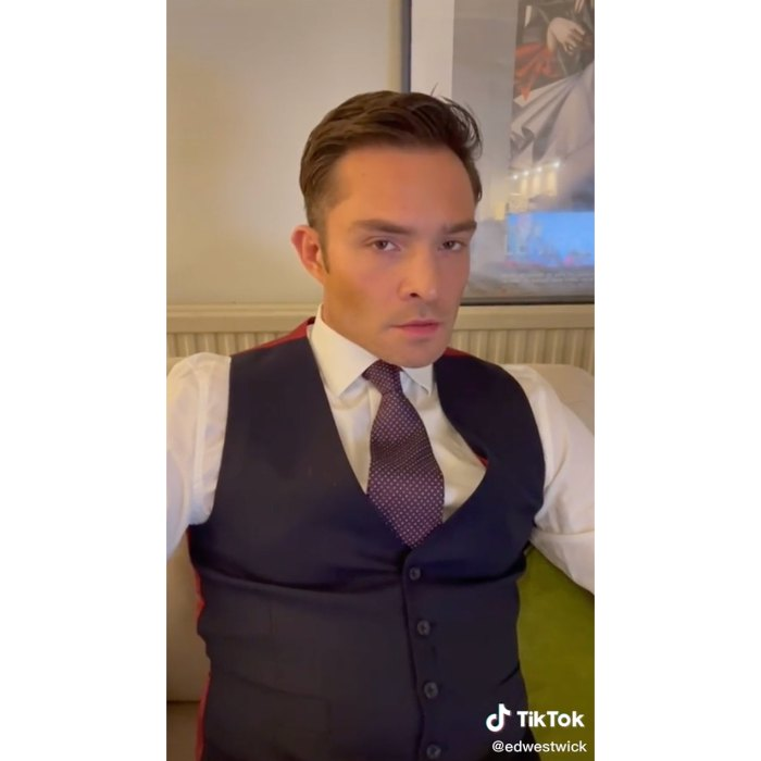 Ed Westwick Channels His Inner Chuck Bass in TikTok Debut