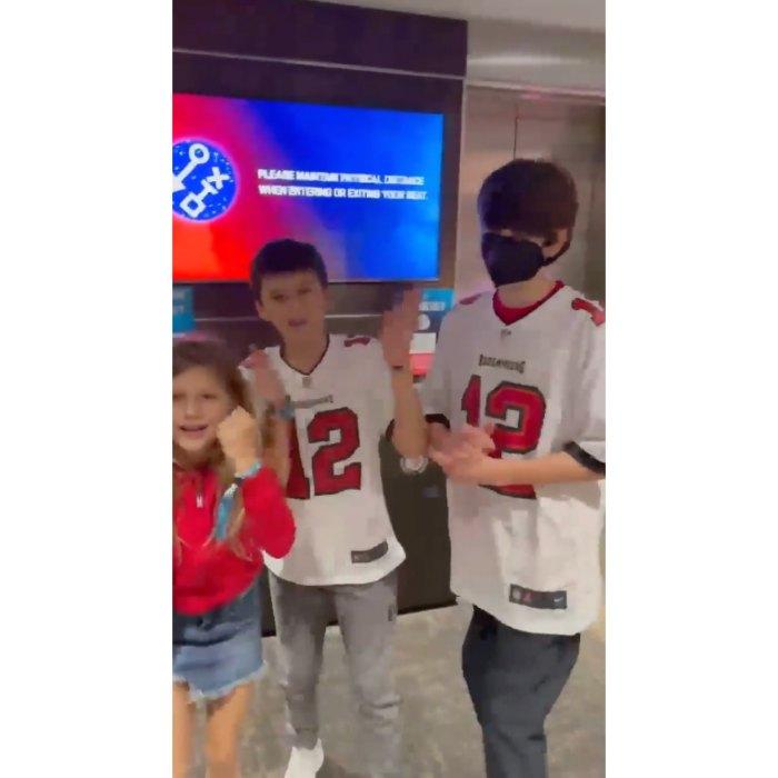 Gisele Tom Brady Kids Super Bowl 2021