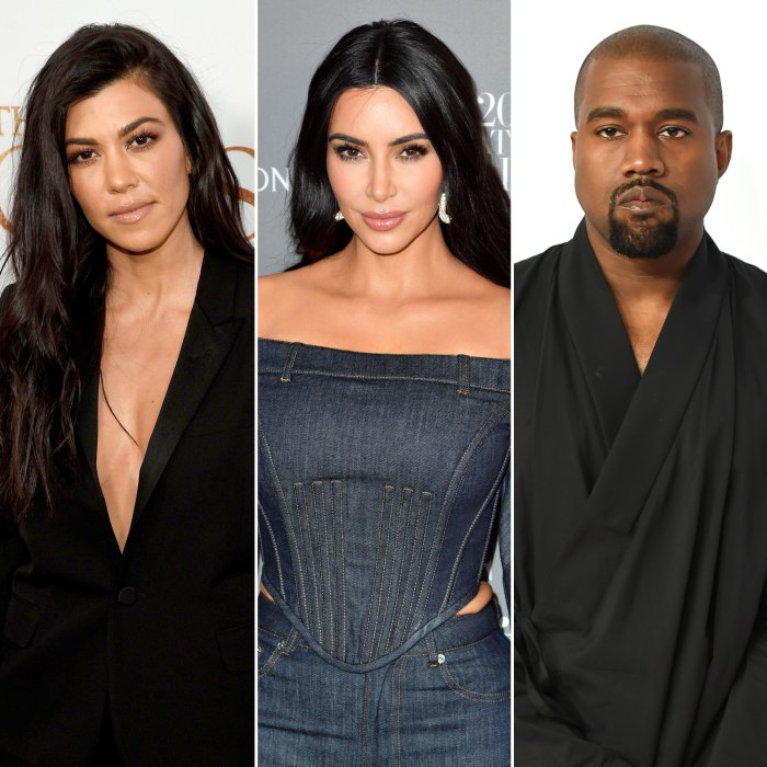Kourtney Kardashian Is 'Trying Really Hard to Be There' for Kim Kardashian Amid Kanye West Divorce