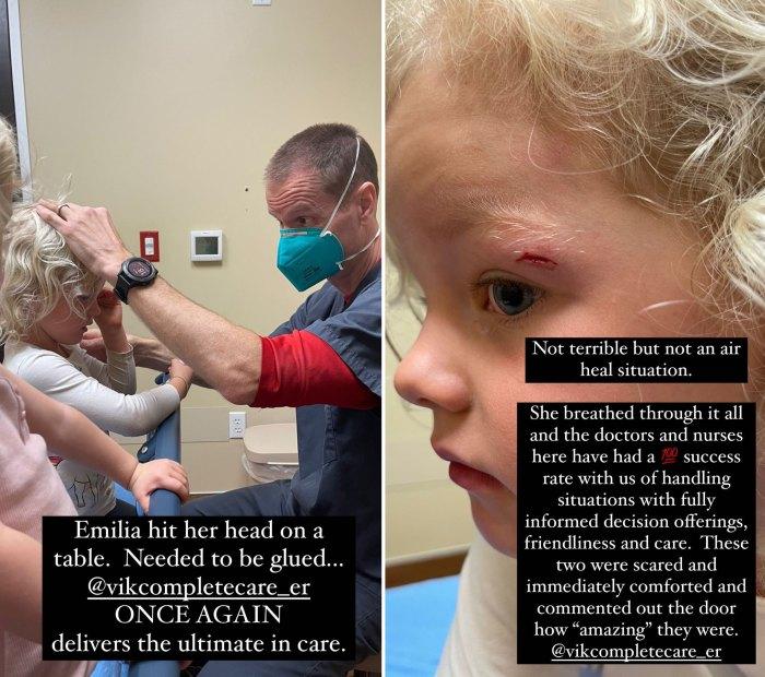 Emilia, la hija de James Van Der Beek, va a la sala de emergencias después de golpearse la cabeza en la mesa 1