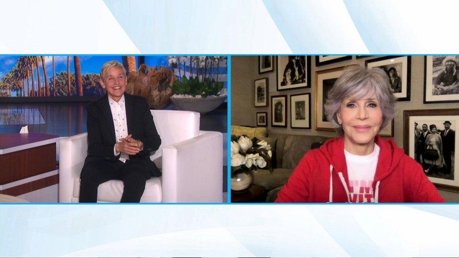 Jane Fonda Ellen DeGeneres Show Covid