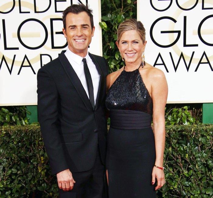 Justin Theroux y Jennifer Aniston llegan a los Globos de Oro 2015 Jennifer Aniston Ex Justin Theroux envía amor en su 52 cumpleaños