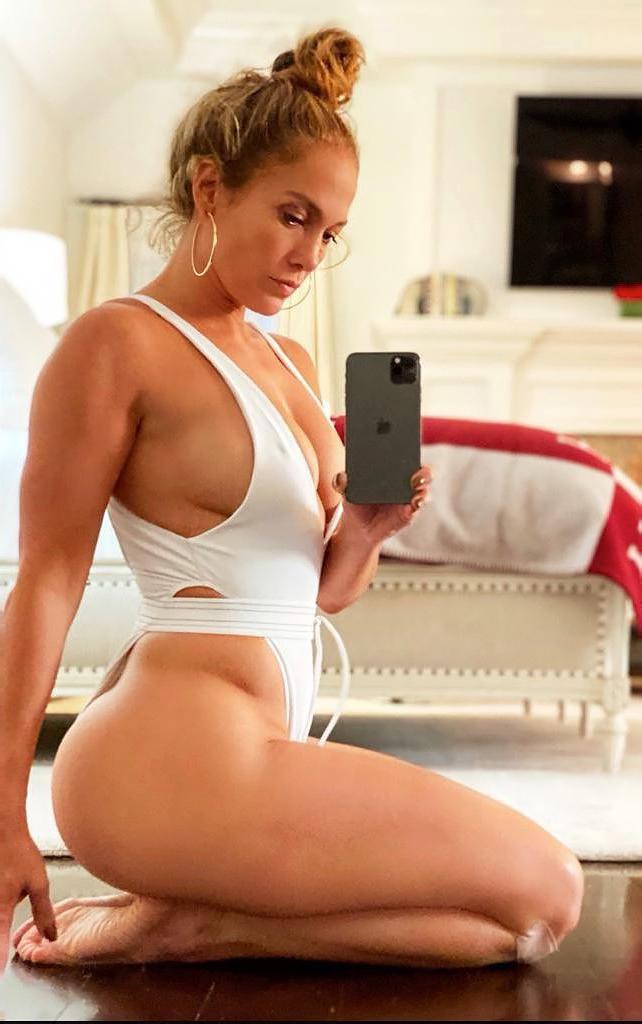 Jennifer Lopez Sizzles in a High-Cut One-Piece Swimsuit