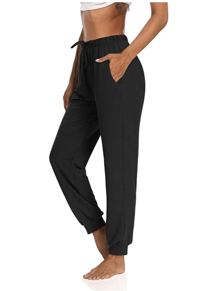 KEEPBEAUTY Pantalones de yoga para mujer con cordón Comfy Lounge Joggers sueltos para entrenamiento