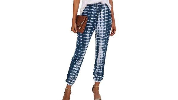 KIRUNDO 2021 Women's Tie Dye Sweatpants Drawstring Waisted Lounge Long Jogger Pants with Pockets