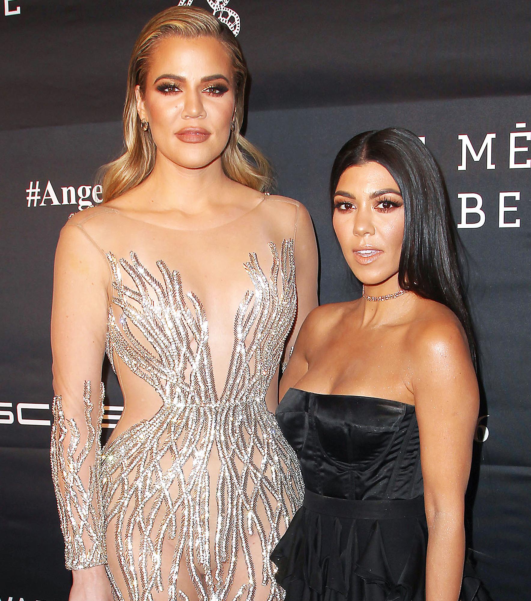 Khloe Kardashian Kourtney Kardashian Stun in Epic Bikini Pic 1