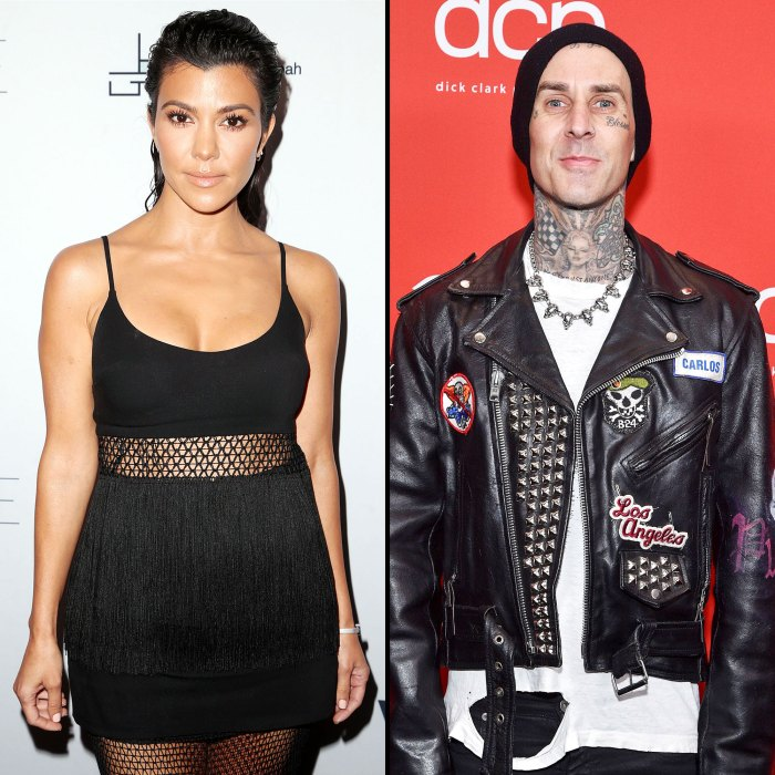 Kourtney Kardashian Travis Barker Hold Hands Date Night