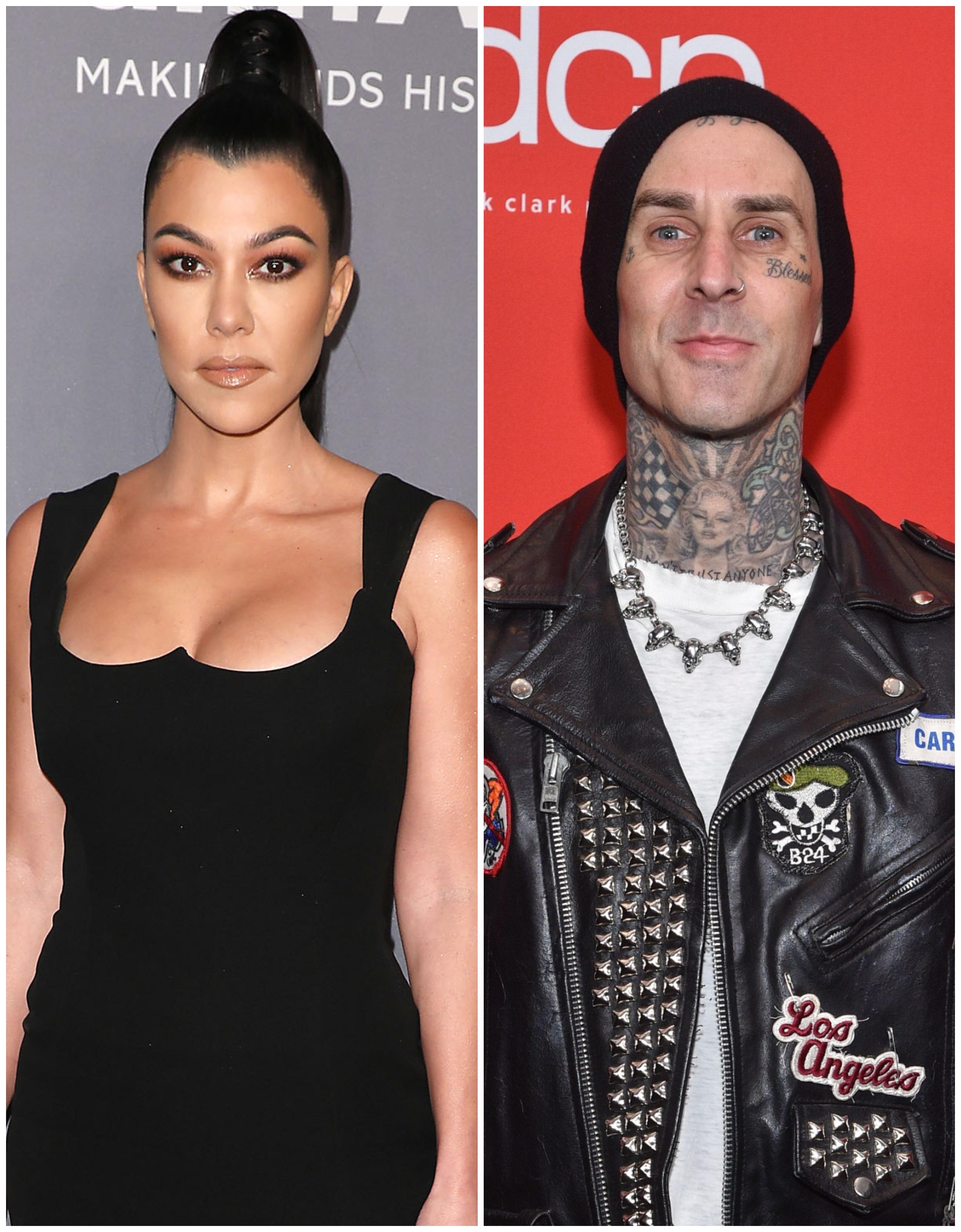 Kourtney Kardashian and Travis Barker Go Instagram Official, Hold Hands