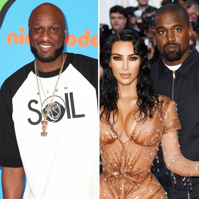 Lamar Odom opina sobre los rumores de ruptura de Kim Kardashian Kanye West