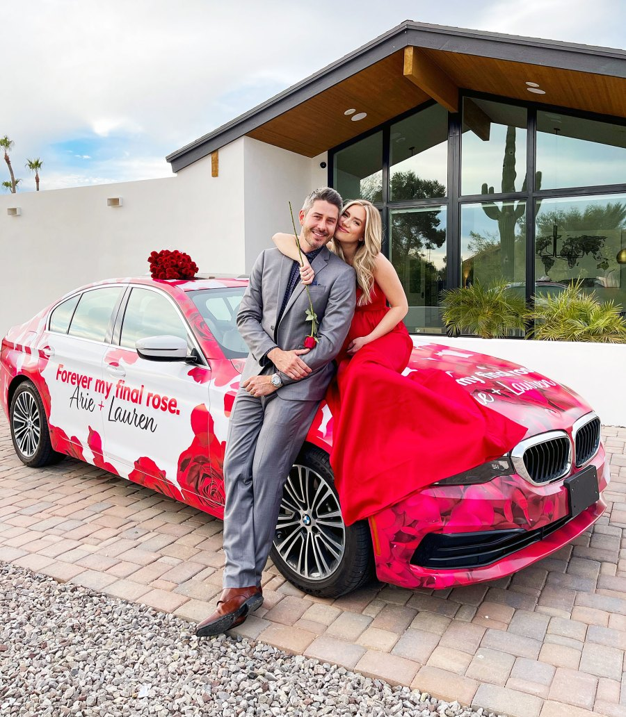 Arie Luyendyk Jr and Lauren Burnham with Hertz Rental Car