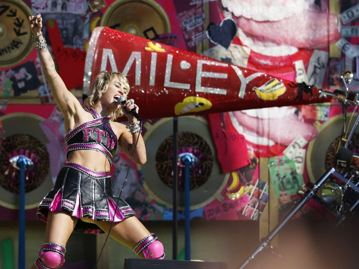 Miley Cyrus Send Britney Spears Love at Pre-Super Bowl Show Amid Controversy 1