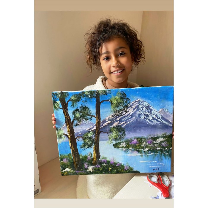 North West Scores Personal Invite to Bob Ross Museum After Creating Her Viral Painting