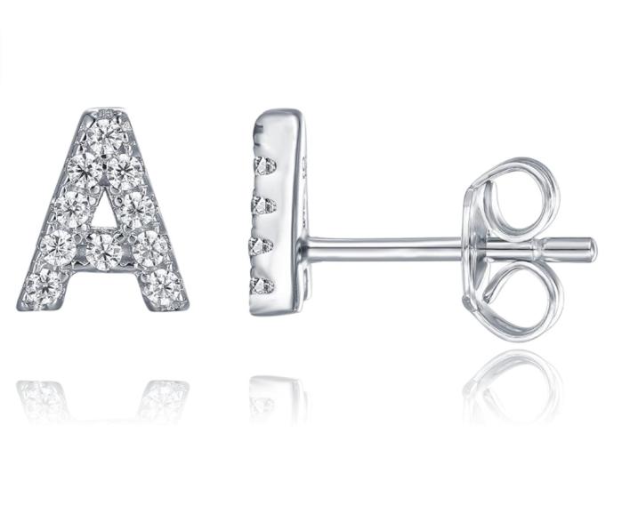 Boucles d'oreilles en argent sterling 925 PAVOI avec diamants simulés CZ