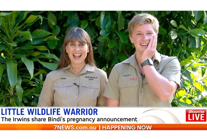 Pregnant Bindi Irwin Brother Roberts Says Shes Massive Now